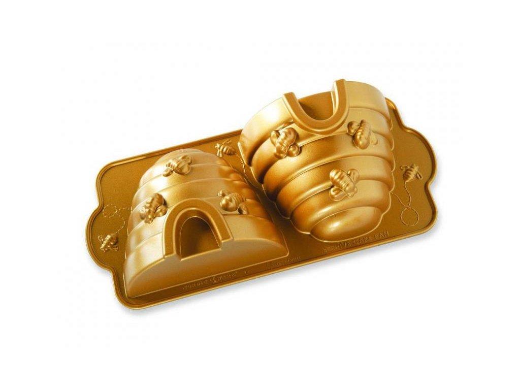 Nordic Ware Forma na bábovku včelí úl 3D zlatá 2,3 l