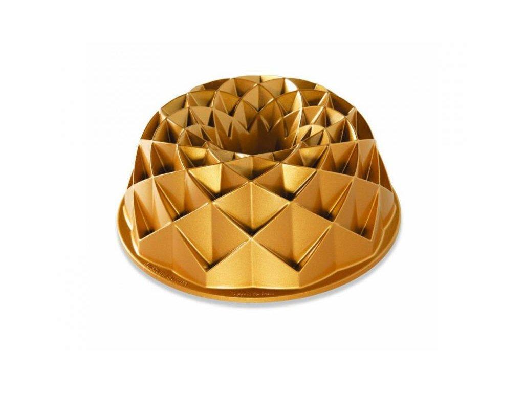 Nordic Ware zlatá forma na bábovku Jubilee 10 cup