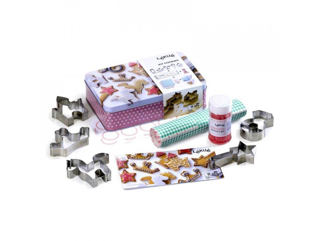 Lékué Vánoční set Kit Cookies Princess