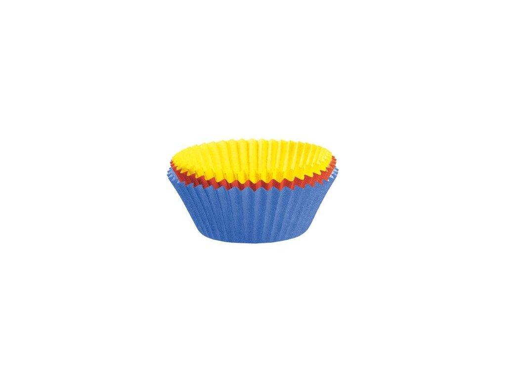 Muffins&Co! Papírové formičky na mini muffiny 150 ks barevné 4,5 cm -