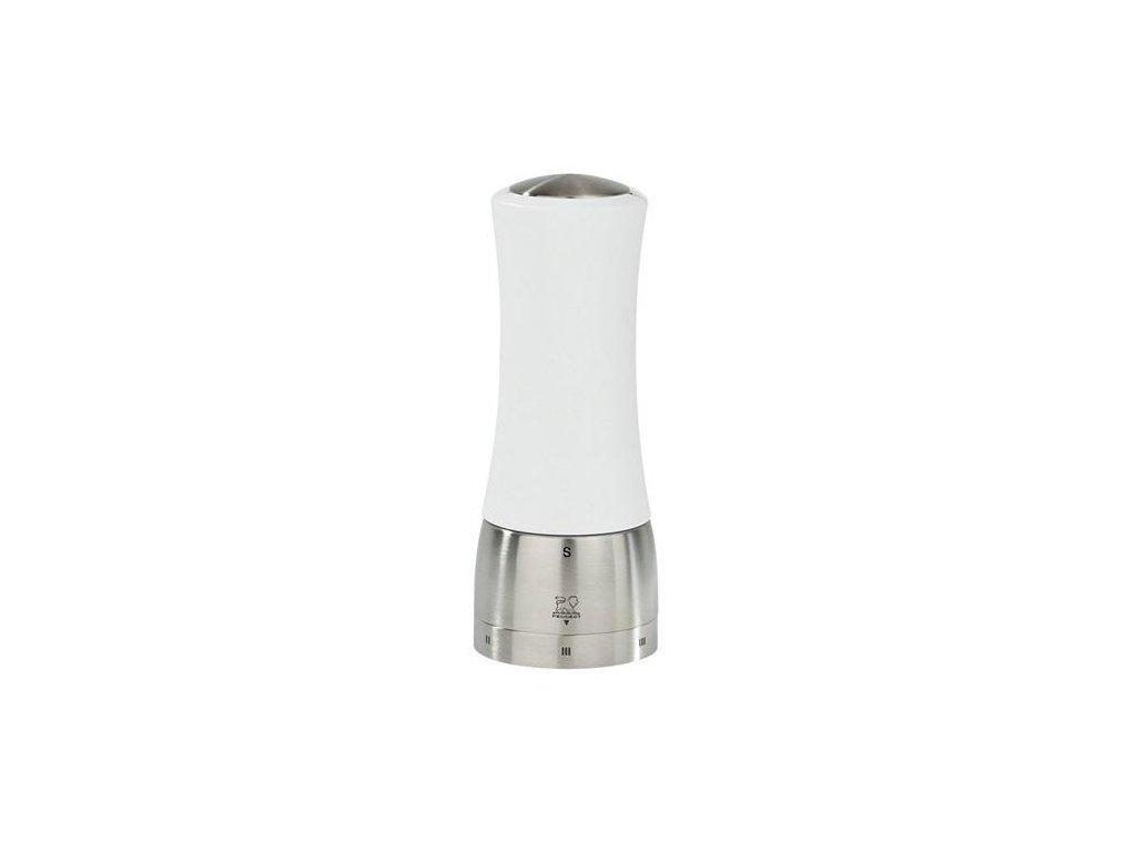 Peugeot MADRAS Mlýnek na sůl - bukové dřevo / nerez, bílý lak 16 cm