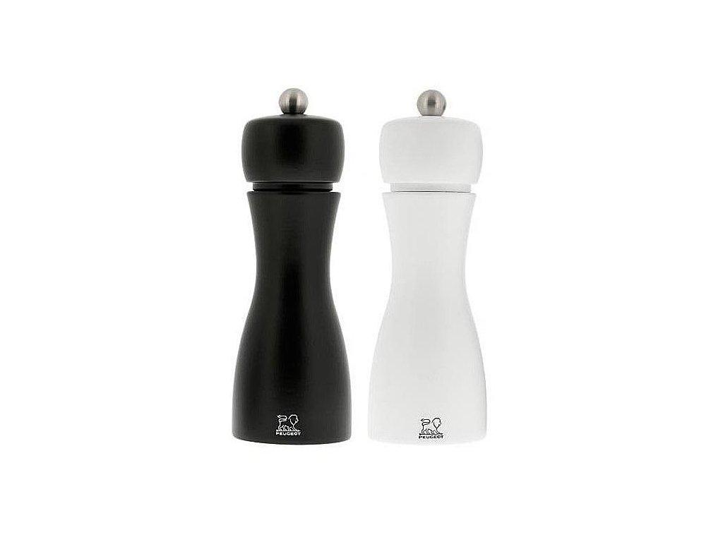 Peugeot Tahiti set mlýnků na pepř a sůl 15 cm černá a bílá