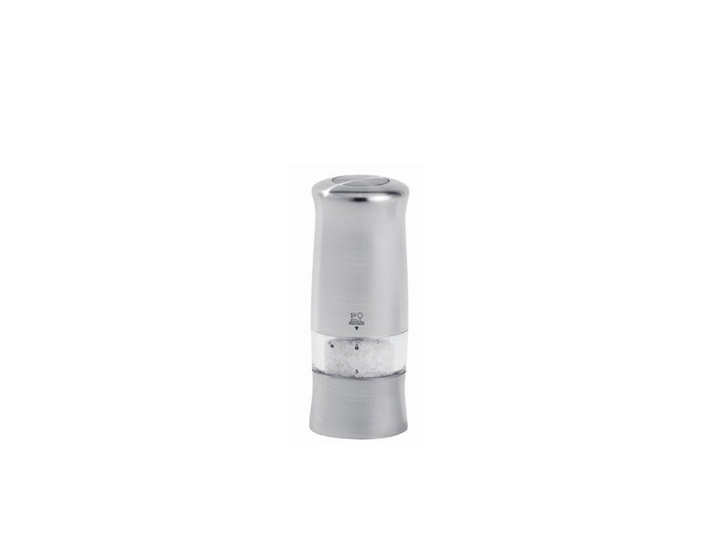 Peugeot ZELI Elektrický mlýnek na sůl, chromovaný plast 14 cm
