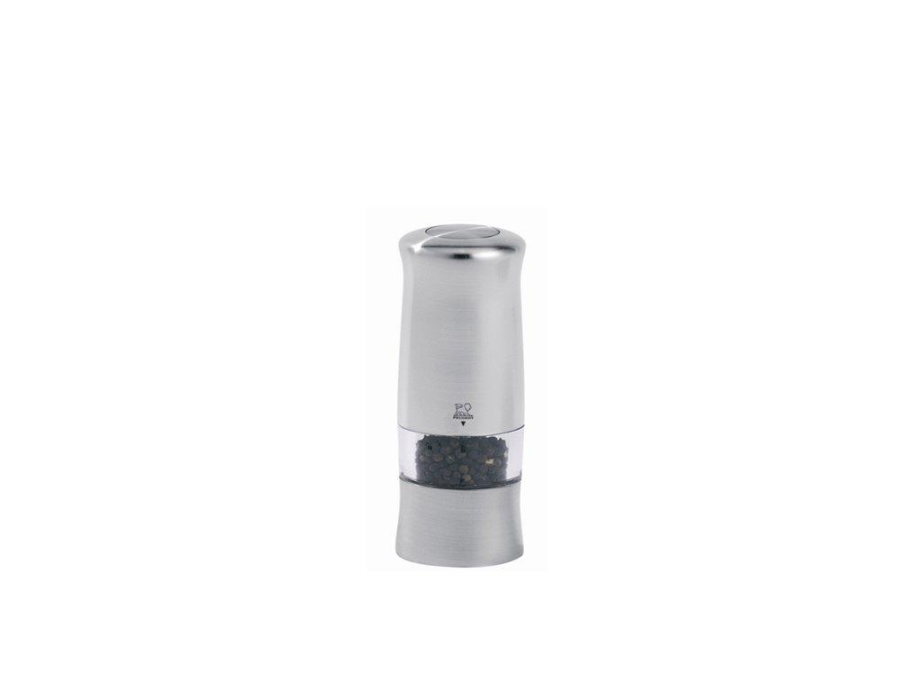 Peugeot ZELI Elektrický mlýnek na pepř, chromovaný plast 14 cm