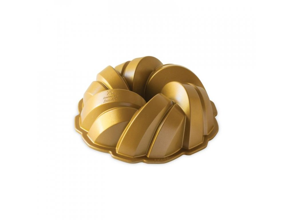 Nordic Ware forma na bábovku 75 let propletená 12 cup zlatá