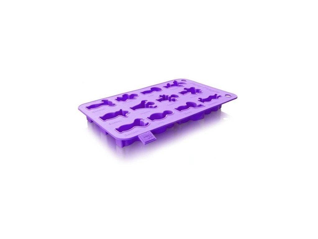 VacuVin Party tvořítko na led fialové