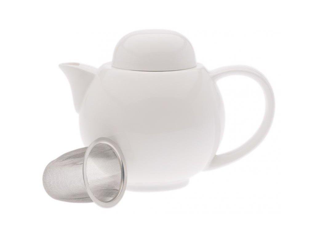 Maxwell&Williams WHITE BASICS čajník 2 šálky & sítko
