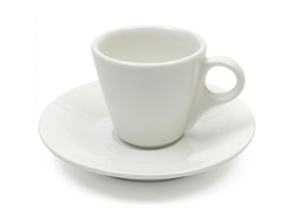 Maxwell&Williams WHITE BASICS espresso kuželovitý šálek s podšálkem  80 ml