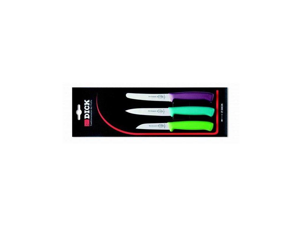 F. Dick ProDynamic 3 dílná sada kuchyňských nožů ve třech barvách