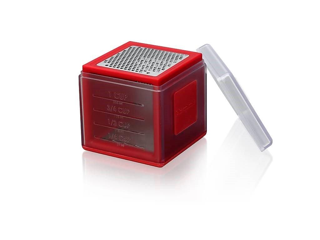 Microplane multifunkční struhadlo kostka, červená