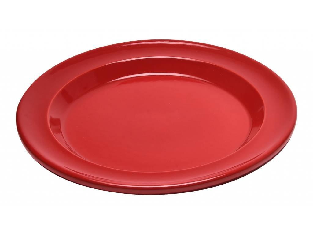 Emile Henry jídelní talíř granátový