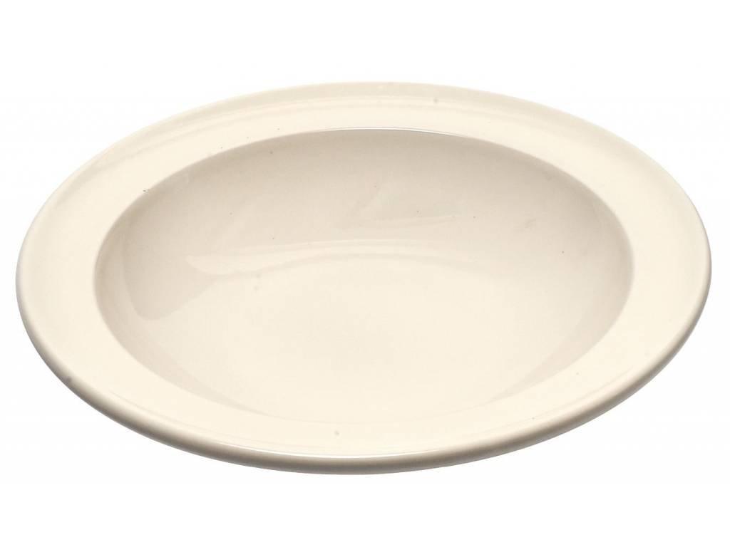 Emile Henry polévkový talíř slonová kost