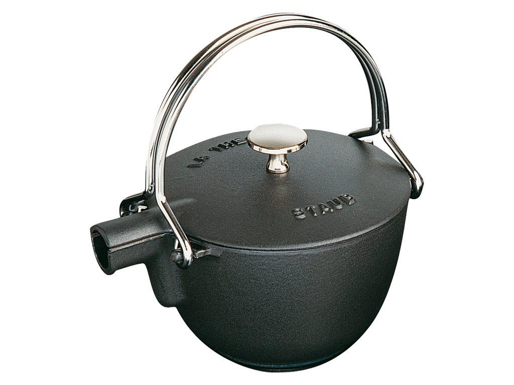 Staub Konvice na čaj La Théiere litinová černá Ø 16,5 cm 1,15 l