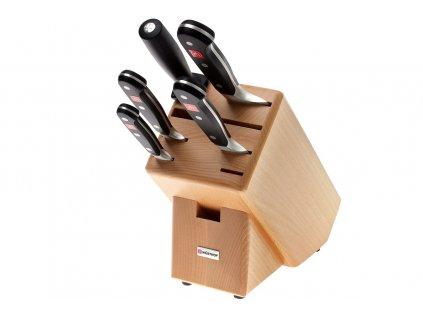 Blok s noži Wüsthof CLASSIC 5 dílů, Světlý