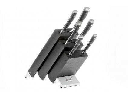 Blok s noži Wüsthof CLASSIC IKON 6 dílů, Černý
