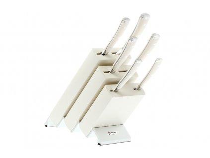 Blok s noži Wüsthof CLASSIC IKON Creme 6 dílů, bílý