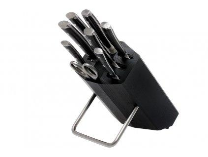 Blok s noži Wüsthof CLASSIC IKON, 8 dílů, černý