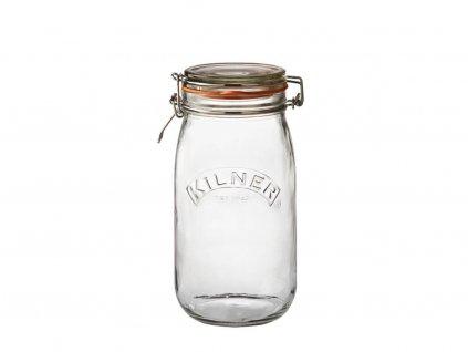 Kilner kulatá zavařovací sklenice s klipem 1,5 l