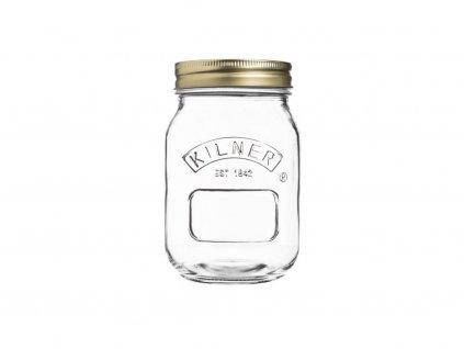 Kilner hranatá zavařovací sklenice šroubovací 0,5 l 1