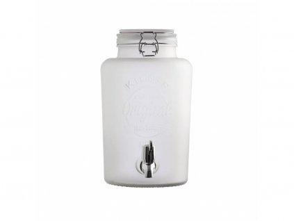 Kilner bílý nápojový automat z mléčného skla s kohoutkem 5,0 l