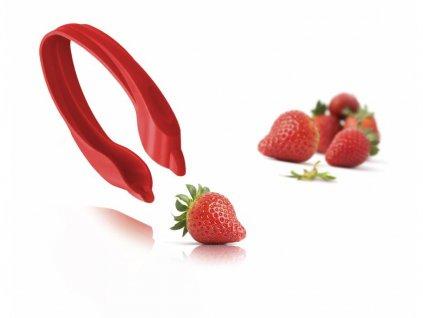 VacuVin Odstraňovač stopek z jahod, červený 1