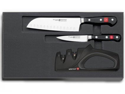 Sada nožů 2ks Wüsthof CLASSIC + Brousek