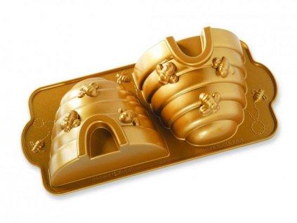 Nordic Ware Forma na včelí úl 3D zlatá