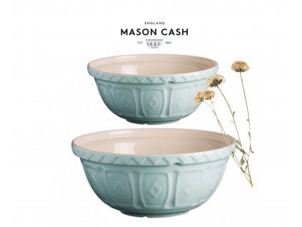 Sada dvou kameninových mís Mason Cash Soft Colour pudrově modrá 2,7 l a 4 l