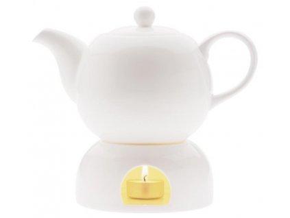 Maxwell&Williams White Basics čajník 1 l & ohřívač