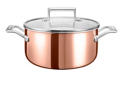 kitchenaid medeny hrnec s nerezovym povrchem a s poklici 5 7l 24 cm