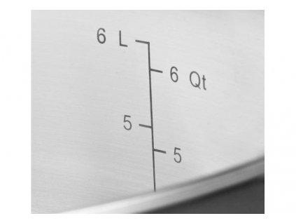 KitchenAid Měděný hrnec s nerezovým povrchem a s poklicí 5,7l, 24 cm