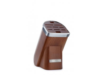 KitchenAid blok na nože, 10 slotů + 1x nůž, přírodní dřevo-tmavý jasan