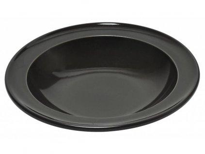Emile Henry polévkový talíř pepřový