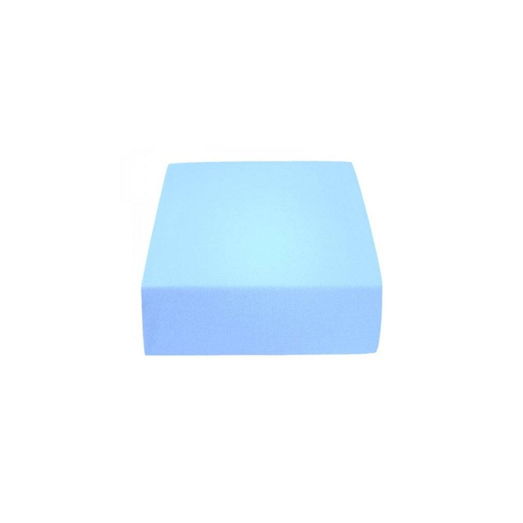 Prostěradlo 180 x 200 cm modrá