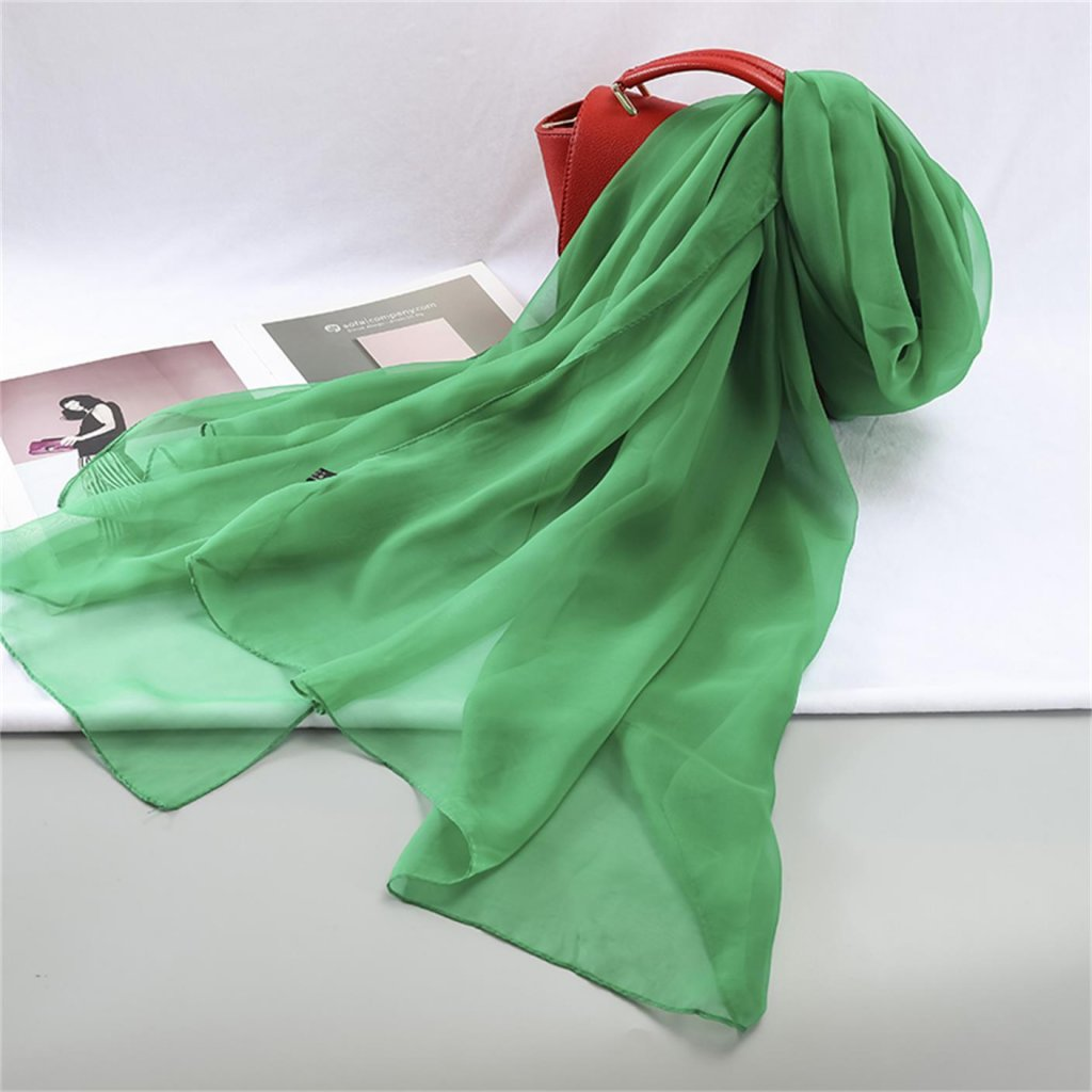 Šála 180 x 110 cm zelená