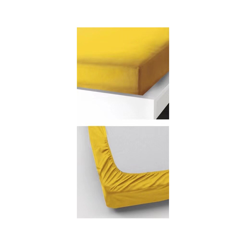 Prostěradlo 90 x 200 cm žlutá