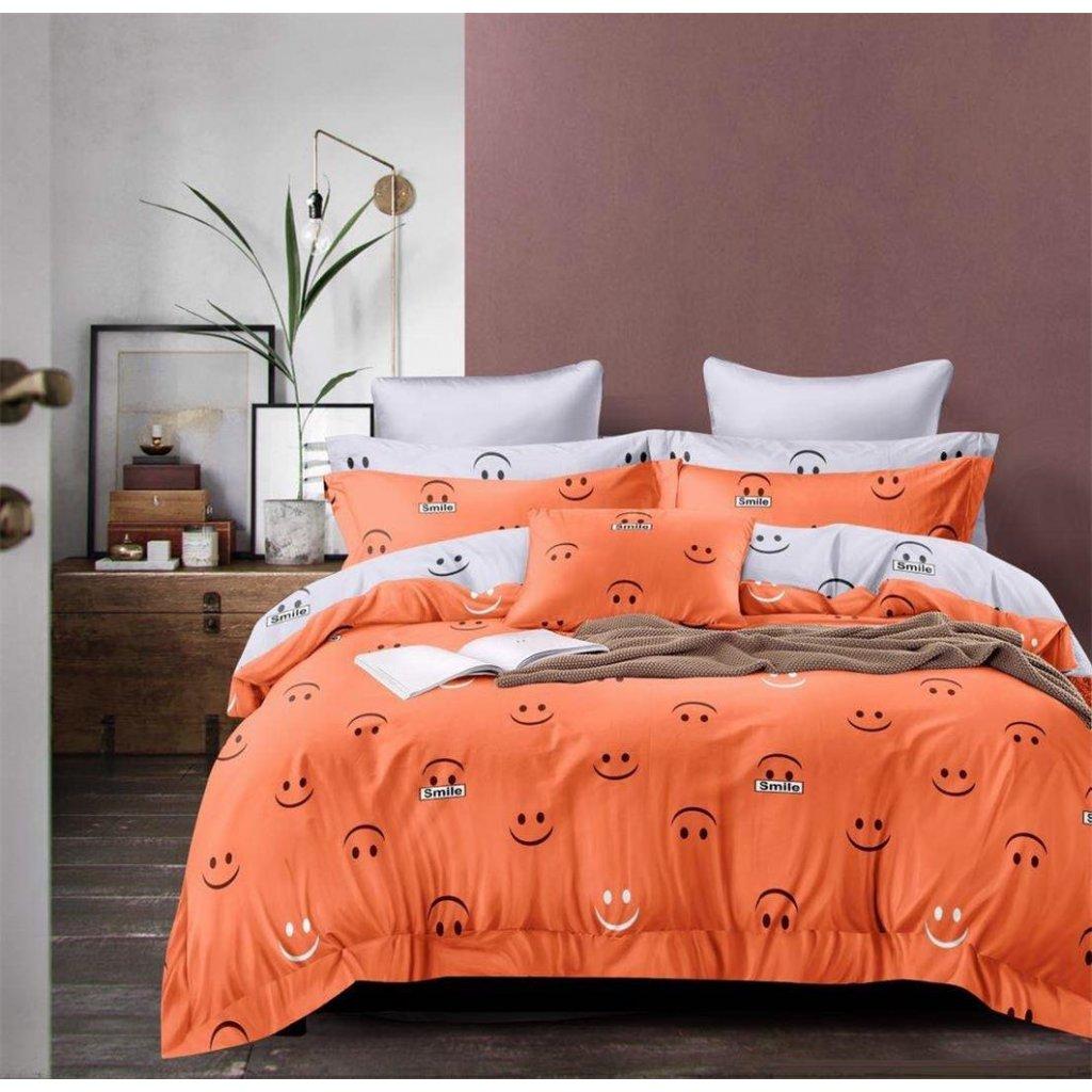 Sedmidílné povlečení smile 3 D 140x200 na dvě postele