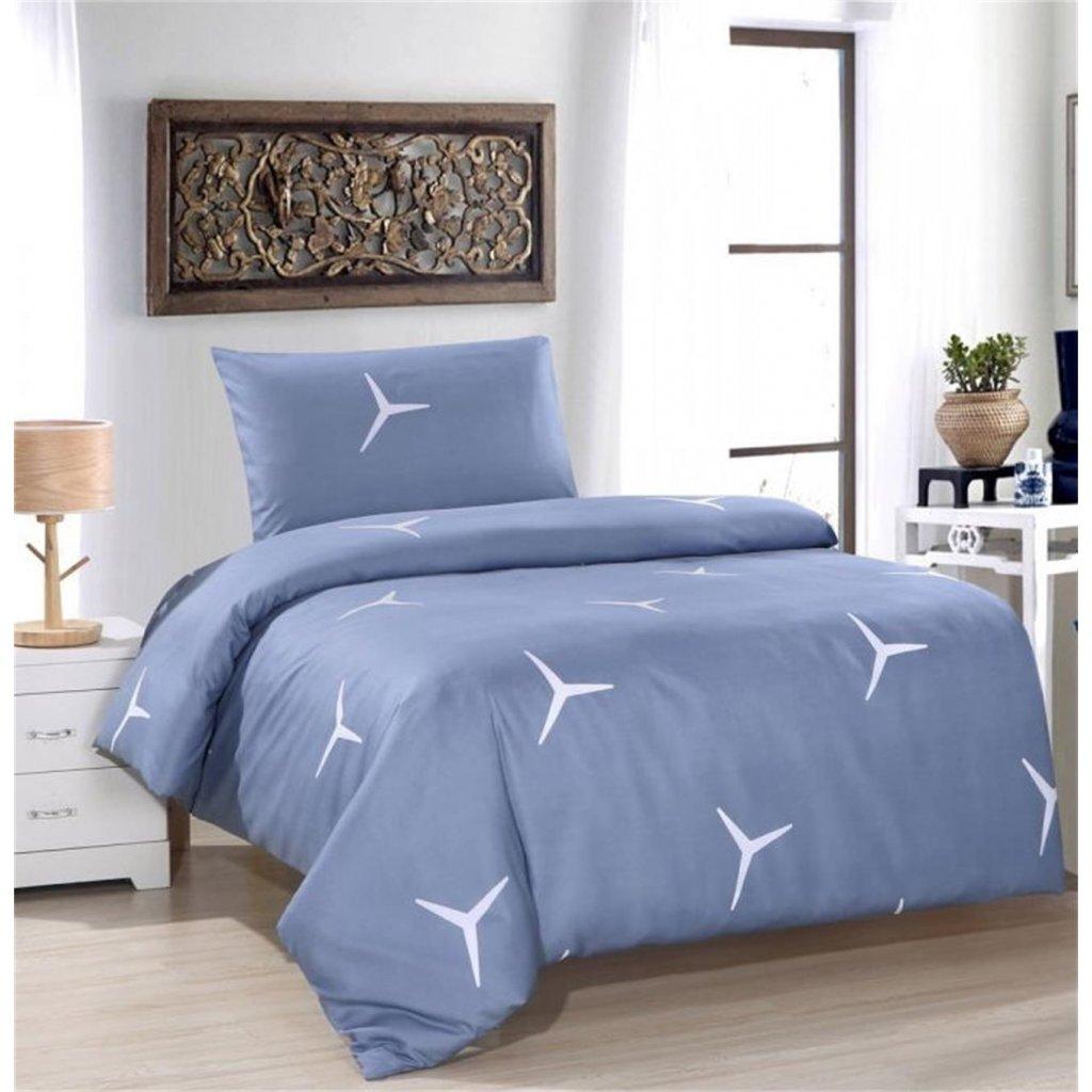 2-dílné povlečení vrtule bavlna/mikrovlákno šedá 140x200 na jednu postel