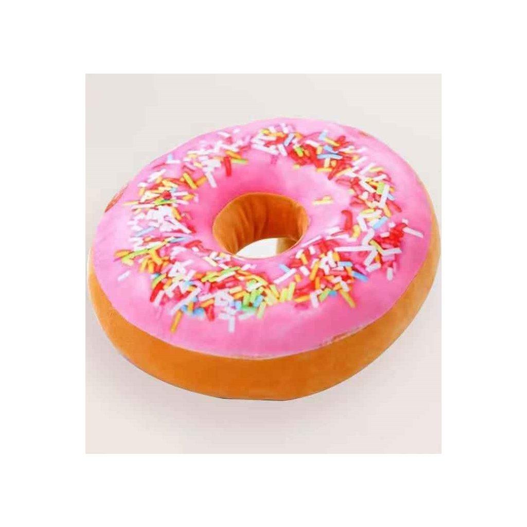 Polštářek donut růžová + posyp