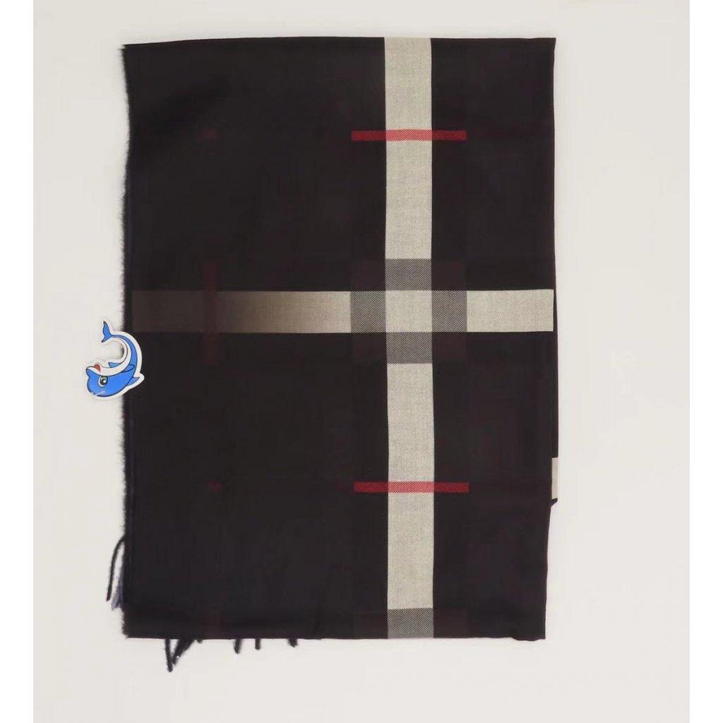 Károvaná šála s třásněmi 180 x 70 cm obr. 1