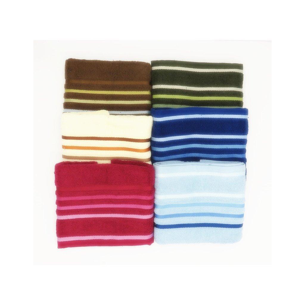 Froté ručník bavlna 50 x 90 cm balení 6 ks