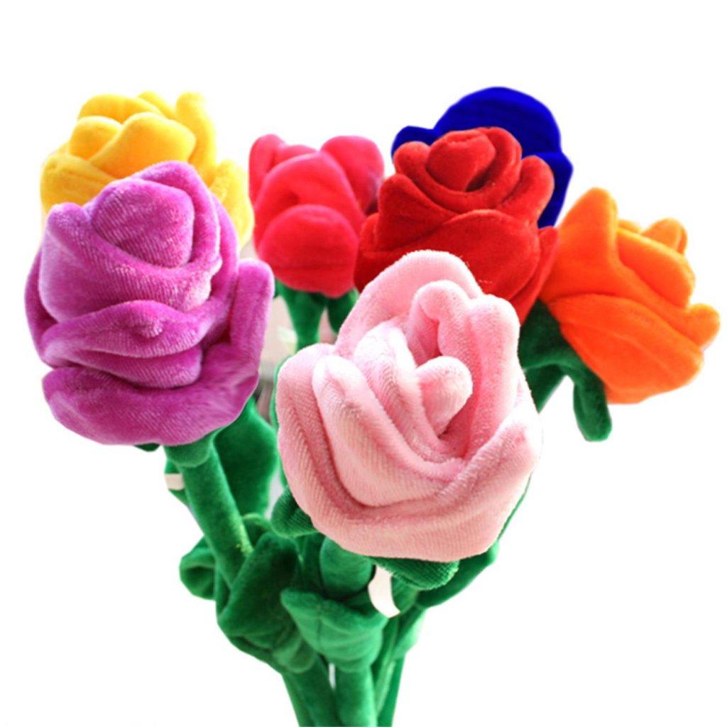 Valentýnská růže mikroplyš 93 cm