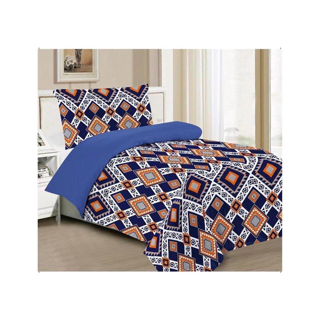 Dvoudílné povlečení Mexiko bavlna/mikrovlákno černá oranžová 140x200 na jednu postel