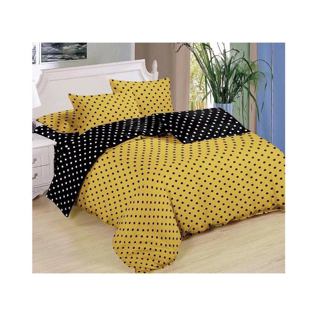 Sedmidílné povlečení puntíky bavlna mikrovlákno 140x200 na dvě postele