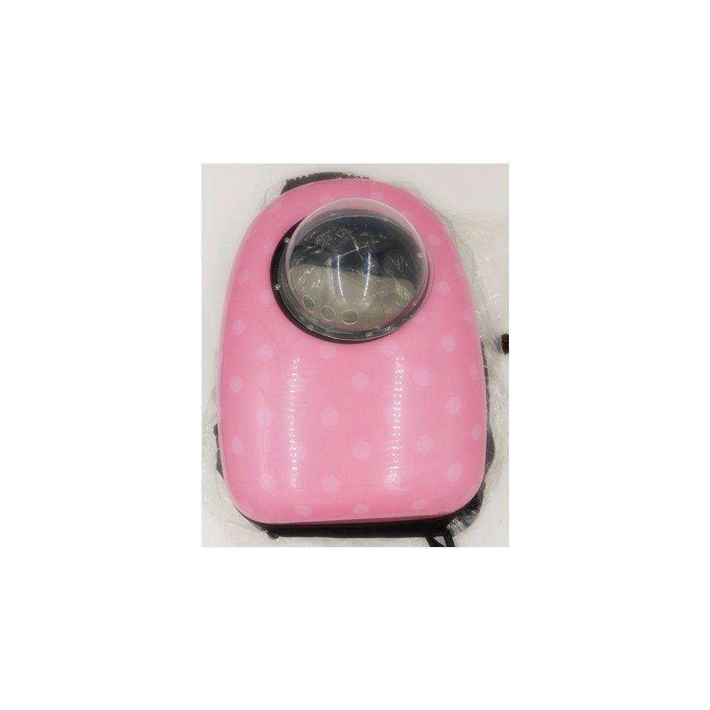 Batoh na domácí mazlíčky 42x29x24 cm růžová obr. 2