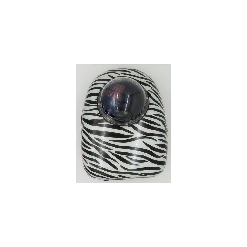 Batoh na domácí mazlíčky 42x29x24 cm zebra