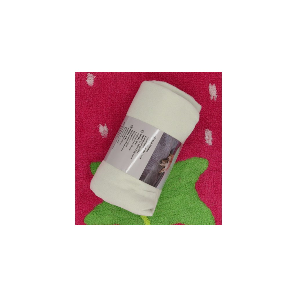 Fleecová deka 150 x 200 šedá světlá