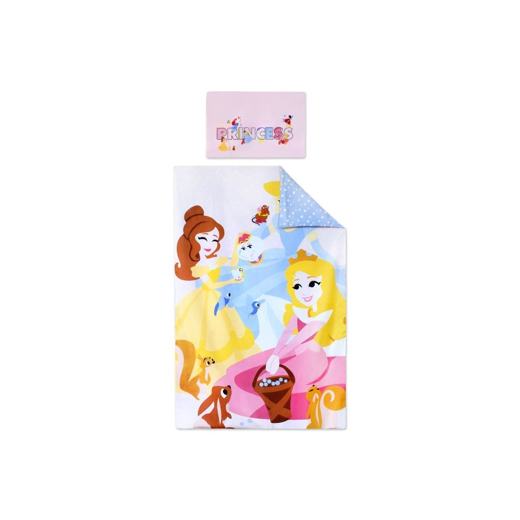 Dětské dvoudílné povlečení 90 x 140 cm princezny obr. 1