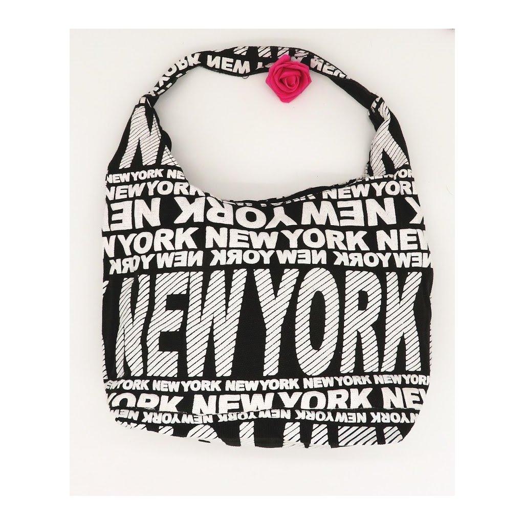 Dámská látková taška přes rameno New York bílá
