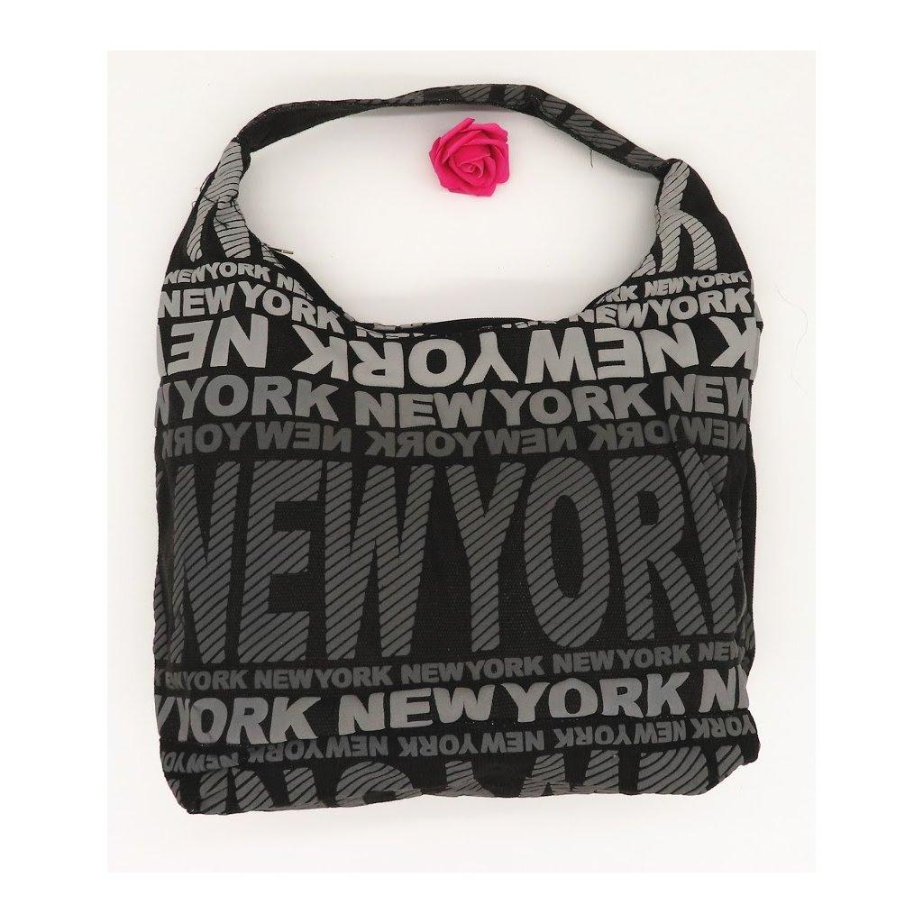 Dámská látková taška přes rameno New York šedá